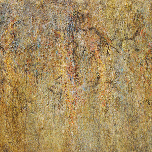 Illusion Series D7 by Sachin Deo, Abstract Painting, Mixed Media on Canvas, Brown color
