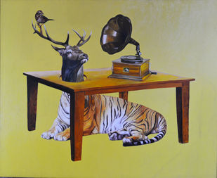 Table Digital Print by Dipto Narayan Chattopadhyay,Surrealism