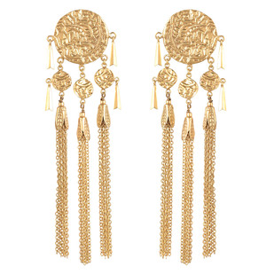 Gold Textured Earrings Earring By Ambar Pariddi Sahai