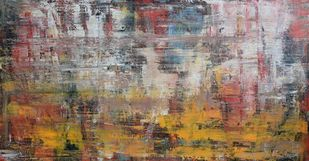 Untitled by Mahesh Sharma, Abstract Painting, Acrylic on Canvas, Brown color