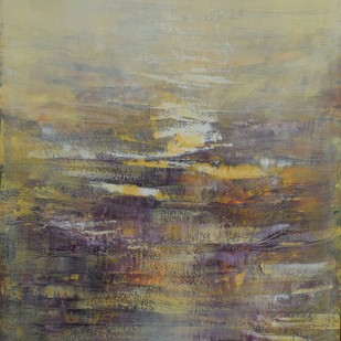 Warmth of Sun by Mahesh Sharma, Abstract Painting, Acrylic on Canvas, Brown color