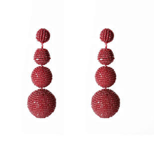 Ascending Spheres 3 Tiered Earring By BEGADA