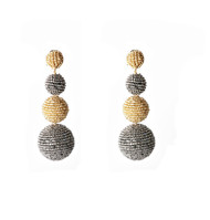 ASCENDING SPHERES 3 TIERED by BEGADA, Contemporary Earring