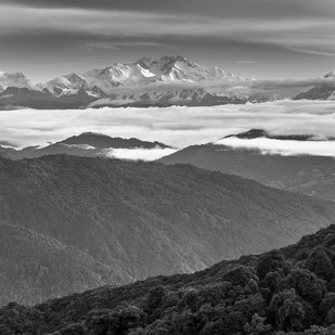 Kanchenjunga by Jayanta Roy, Image Photography, Digital Print on Archival Paper, Gray color