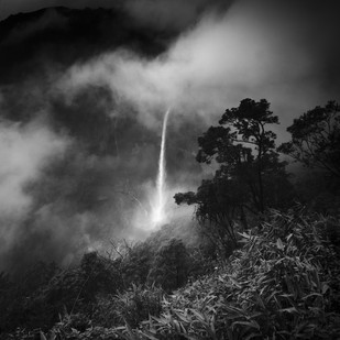 Nohkalikai falls,meghalaya by Jayanta Roy, Image Photography, Digital Print on Archival Paper, Gray color