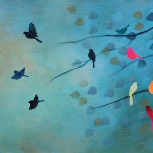 Blue sky and whispering winds Digital Print by Priyanka Waghela,Impressionism