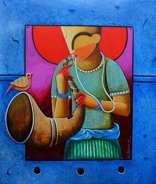 unsong melody Digital Print by anupam pal,Traditional