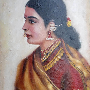TARA by Sreenivasa Ram Makineedi, Expressionism Painting, Oil on Canvas, Brown color