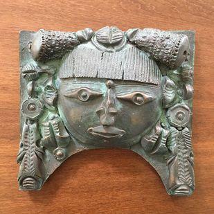 Untitled by Laxma Goud, Art Deco Sculpture | 3D, Bronze, Brown color