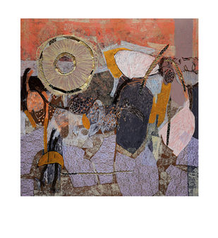 Untitled-C by Pankaj Kumar Singh, Expressionism Painting, Mixed Media on Canvas, Brown color