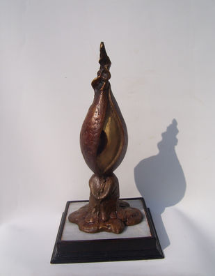 Silent Cry by Jayanta Bhattacharya, Art Deco Sculpture | 3D, Bronze, Gray color