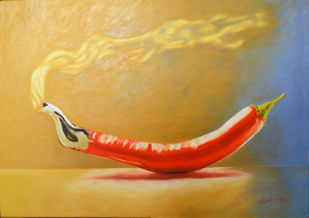 Chilli Digital Print by Dipto Narayan Chattopadhyay,Surrealism