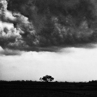 Monsoon by Subhajit Dutta, Image Photography, Digital Print on Paper, Gray color