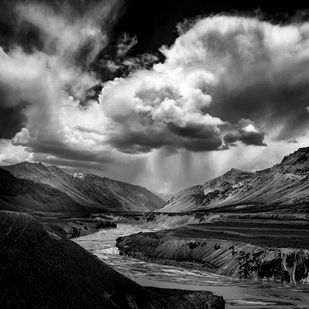 Ladakh by Jayanta Roy, Image Photography, Digital Print on Archival Paper, Gray color