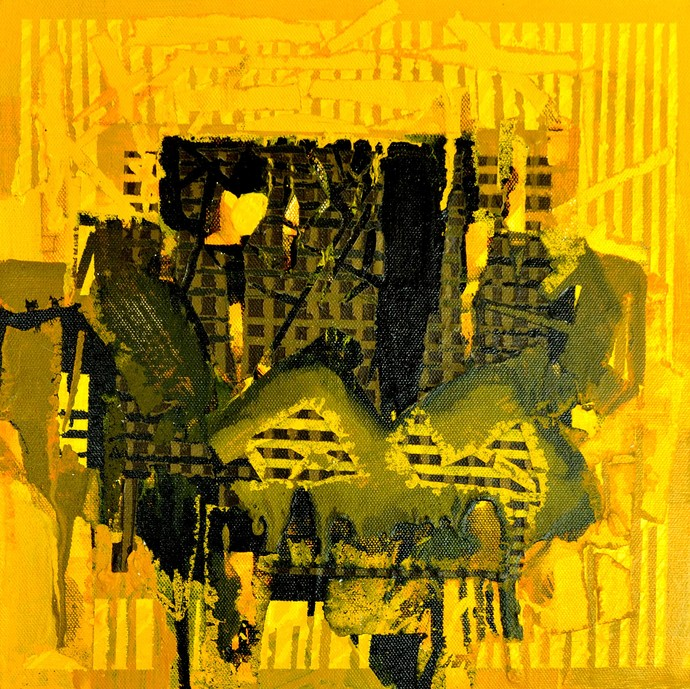 Untitled by Nivas Kanhere, Abstract Painting, Acrylic on Canvas, Green color