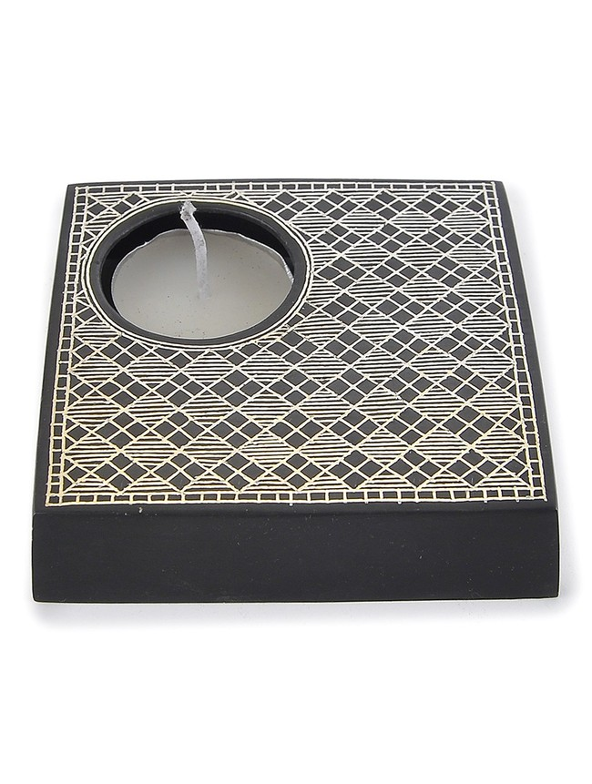 square candle holder Candle Stand By Bidriwala