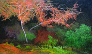 Untitled by Surya Prakash, Impressionism Painting, Acrylic on Canvas, Brown color