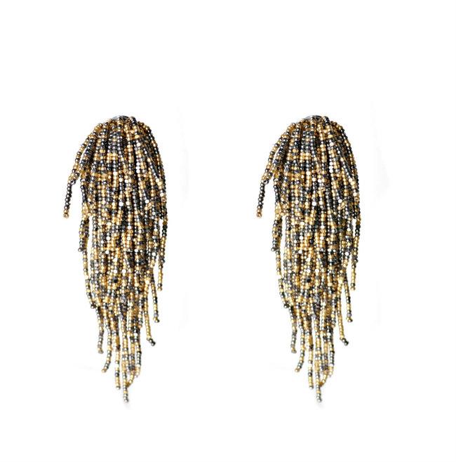 Tara Earrings in Vintage Gold by BEGADA, Art Jewellery Earring
