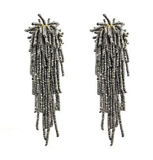 Tara Earrings in Metallic Grey by BEGADA, Art Jewellery Earring