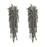 Tara Earrings in Metallic Grey by BEGADA, Art Jewellery Earring