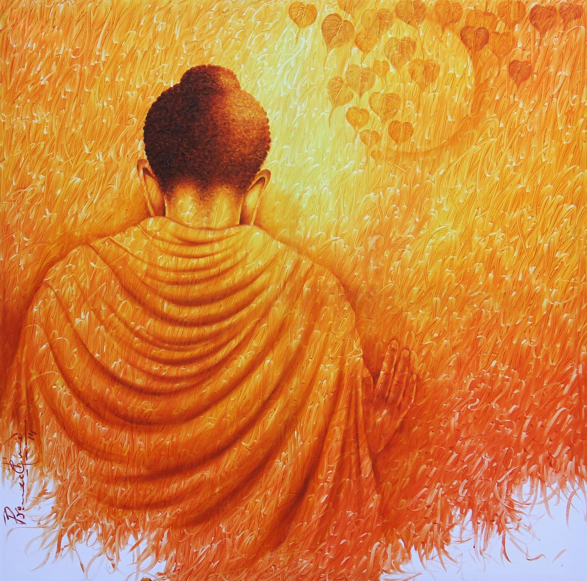 Pious Buddha Towards Nirvana By Artist Prince Chand