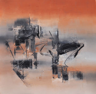 Earthy brown by Raju Durshettiwar, Abstract Painting, Acrylic on Canvas, Brown color