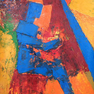 CONTIGUOUS -2 by Aditya Dev, Expressionism Painting, Acrylic on Paper, Brown color