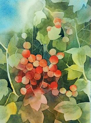 Berries Digital Print by Poulami Basu,Impressionism