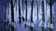 Misty Estate Series 2 by Sunil Linus De, Impressionism Painting, Acrylic on Canvas, Blue color