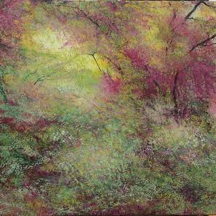 Creaking Trees by Vimal Chand, Impressionism Painting, Acrylic on Canvas, Brown color