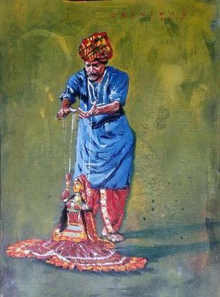 Puppet Master Digital Print by Sreenivasa Ram Makineedi,Expressionism