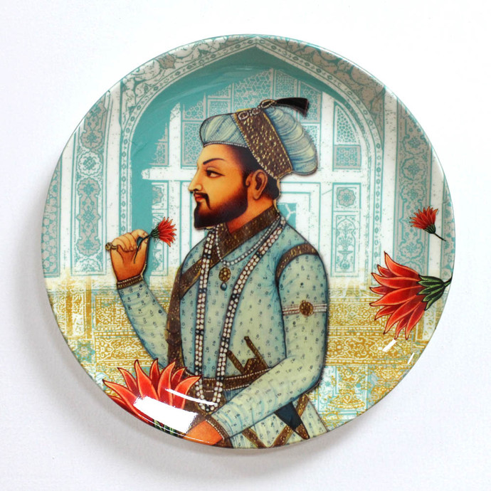 "ROYAL MUGHAL EMPEROR SHAHNAHAN INSPIRED HOME DECOR WALL PLATE 8"" Other Accessories By Kolorobia"