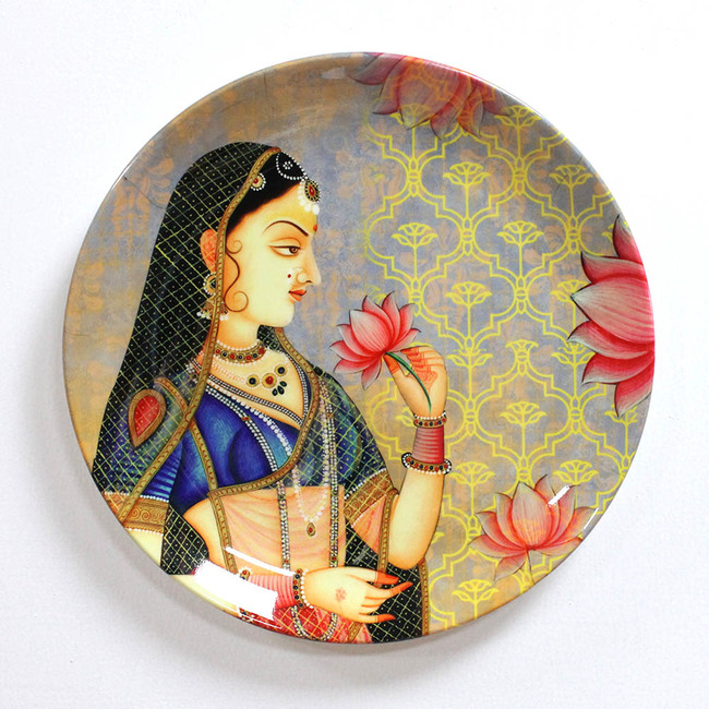 "ROYAL MUGHAL QUEEN MUMTAZ INSPIRED HOME DECOR WALL PLATE 8"" Wall Decor By Kolorobia"