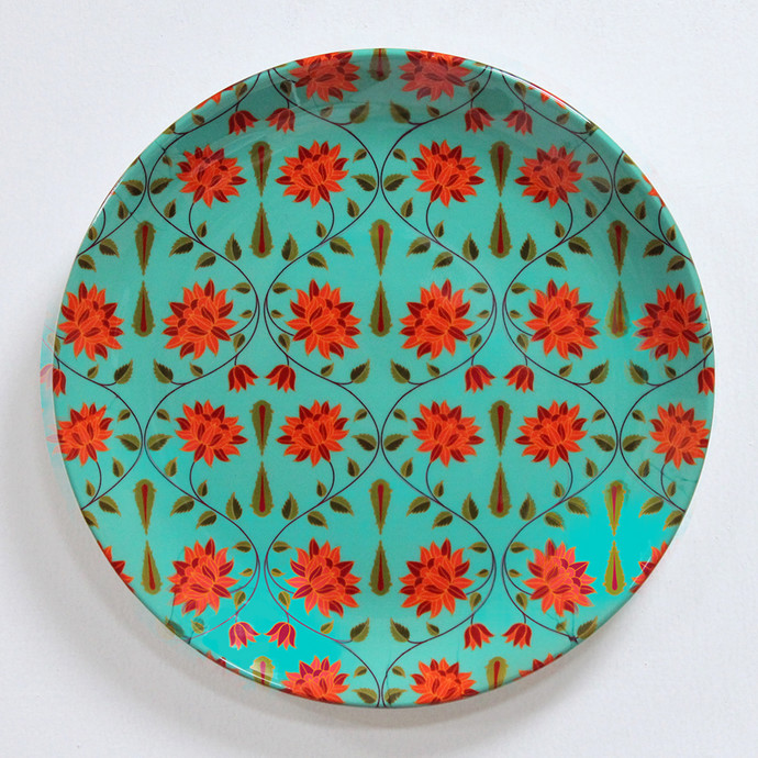 "KOLOROBIA BABUR INSPIRED HOME DÉCOR WALL PLATE 10"" Other Accessories By Kolorobia"