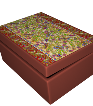 Kalamkari Finesse Tea Chest Other Accessories By Kolorobia