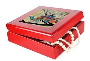 Charismatic Peacock Keepsake Box Jewellery Boxes By Kolorobia