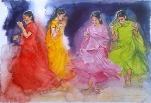 Butterflies Digital Print by Sreenivasa Ram Makineedi,Impressionism