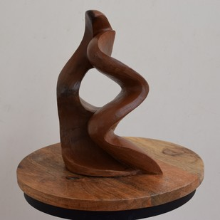 Wave of Togetherness by Arti Gupta, Art Deco Sculpture | 3D, Ceramic, Brown color