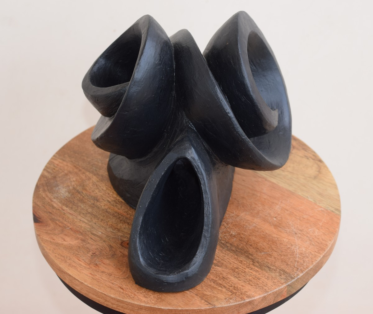 Wave of Expression by Aarti Gupta Bhadauria, Art Deco Sculpture   3D, Terracotta, Gray color