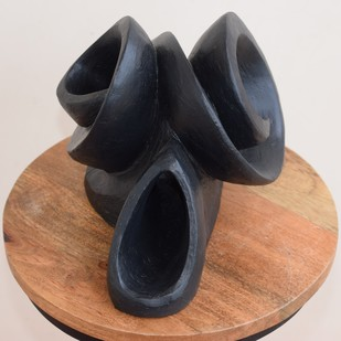 Wave of Expression by Arti Gupta, Art Deco Sculpture | 3D, Ceramic, Gray color