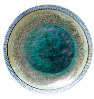 Ceramic Plates by Arun Mukhuty, Art Deco Sculpture | 3D, Ceramic, Green color