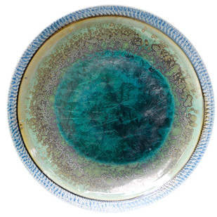 Ceramic Plates by Arun Mukhuty, Art Deco Sculpture   3D, Ceramic, Green color
