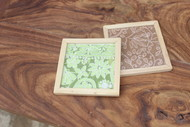 IVEI Chikankari coasters set of 2 Photo Frame By i-value-every-idea