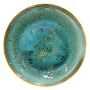 Ceramic Plate by Arun Mukhuty, Art Deco Sculpture | 3D, Ceramic, Green color