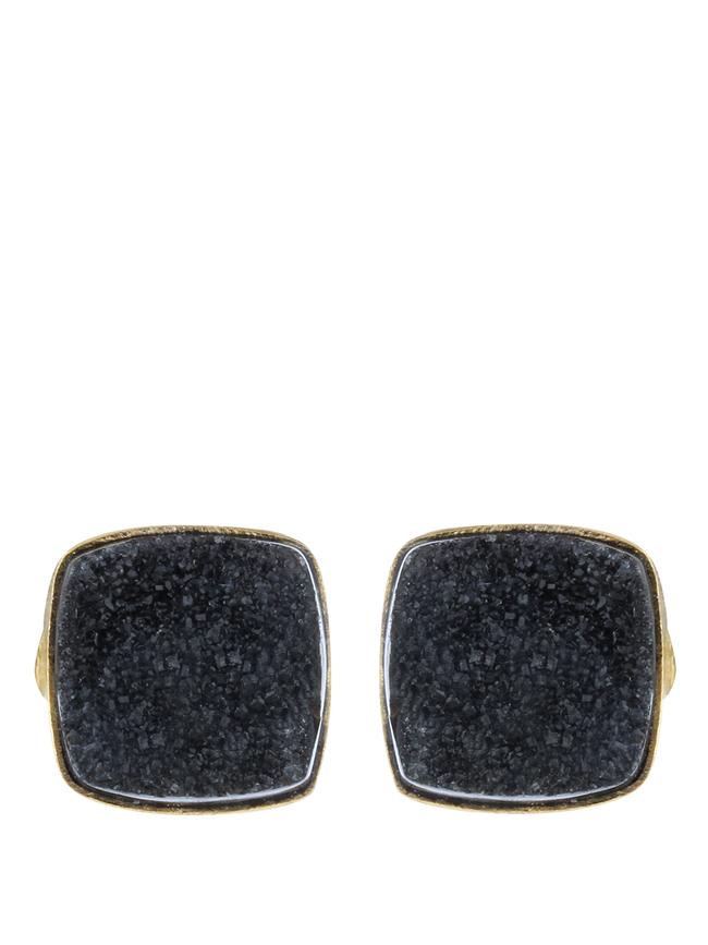 Black Gold Tone Brass Earring Set by IMLI STREET, Contemporary Earring
