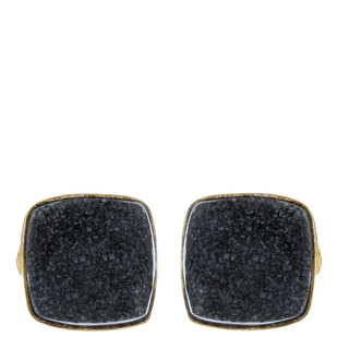 Black Gold Tone Brass Earring Set by IMLI STREET, Contemporary Earring