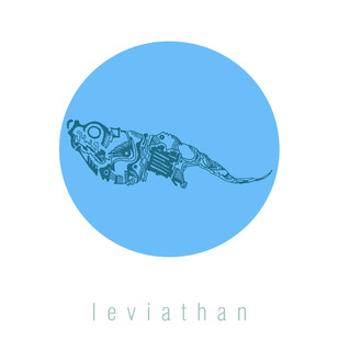 leviathan by lynrinth, Impressionism Painting, Digital Print on Paper, White color