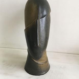 Eventuate by Rekha Goyal, Art Deco Sculpture | 3D, Ceramic, Gray color