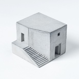 Miniature concrete home by Material Immaterial, Contemporary Curio