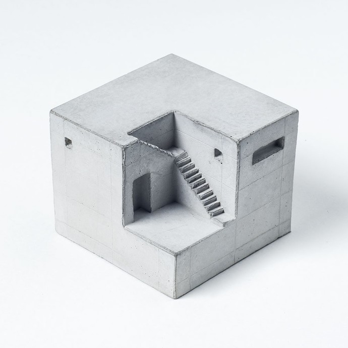 Miniature concrete home Curio By Material Immaterial